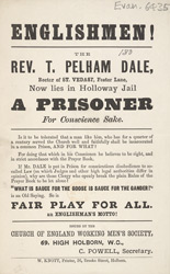 Political leaflet campaigning for the release of a prisoner from Holloway Jail